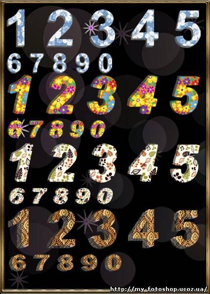 кисти для фотошопа цифры: